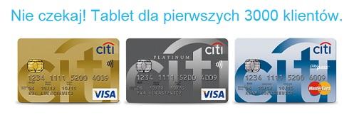 karta kredytowa citibank tablet za darmo