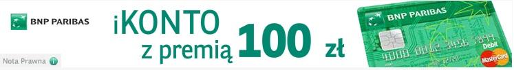 ikonto z premią 100 paribas bank