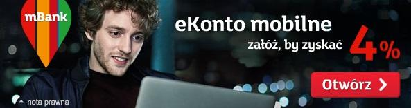 konto osobiste z oprocentowaniem eKonto mobilne mBank