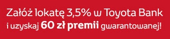 lokata toyota bank z premią 60 zł za cowarunki