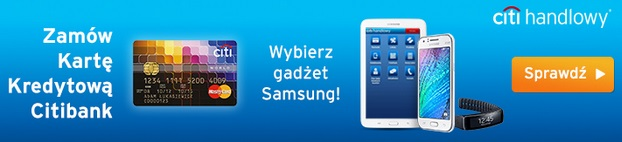 karta kredytowa z gadżetem Samsung dobra promocja
