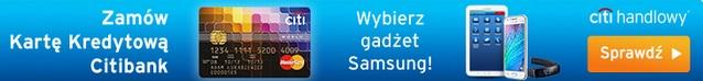 karta kredytowa z gadżetem Samsung promocja