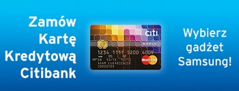 karta kredytowa z gadżetem Samsung tablet dobra promocja
