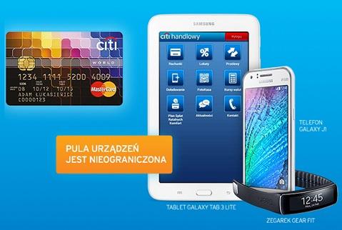 karta kredytowa z gadżetem Samsung