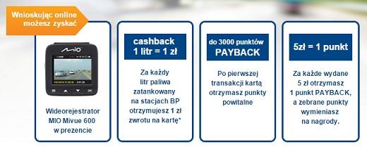 karta kredytowa Citibank z wideorejestratorem i 200 zł na paliwo promocja bankowa citihandlowy