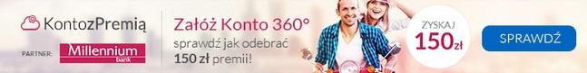 150 zł premii za Konto 360 promocja warunki