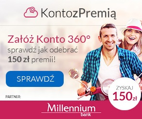 150 zł premii za Konto 360