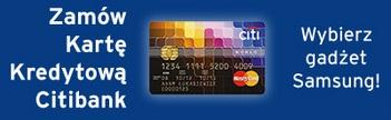 karta kredytowa citibank z gadżetem samsung citi handlowy wrzesień