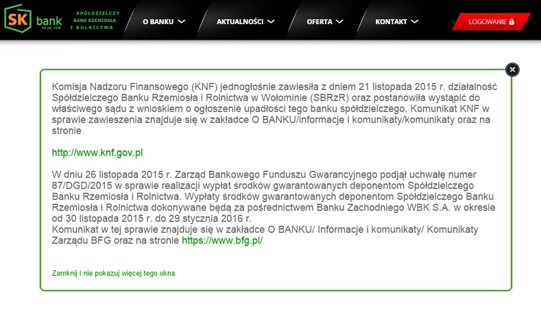 sk bank wypłata BFG