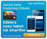 telefon lub tablet za kartę kredytową w Citibanku handlowy nagorda warunki promocja