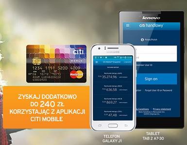 telefon lub tablet za kartę kredytową w Citibanku promocja