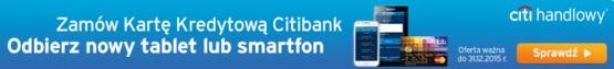 telefon lub tablet za kartę kredytową w Citibanku warunki promocja