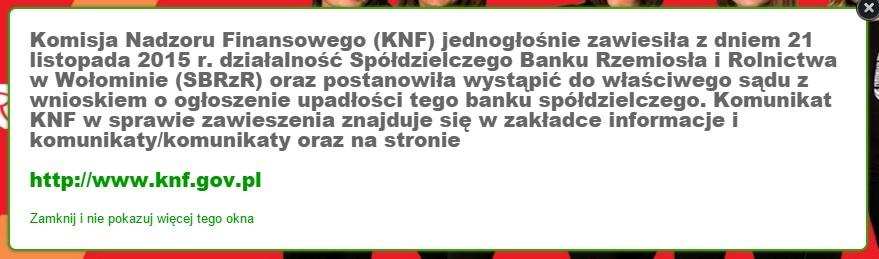 upadłość SK Banku