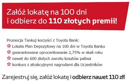 Tankuj Korzyści z Toyota Bank promocja
