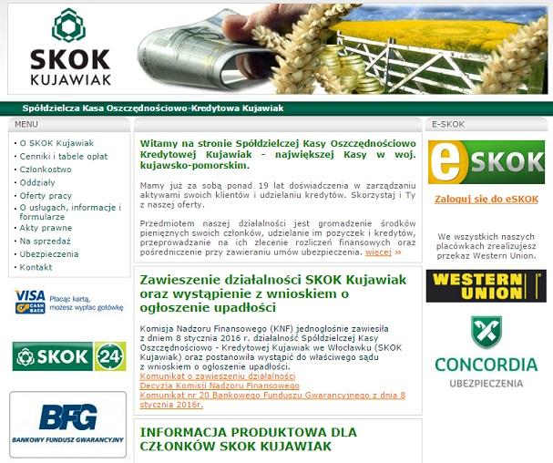 upadłość SKOK Kujawiak wypłata