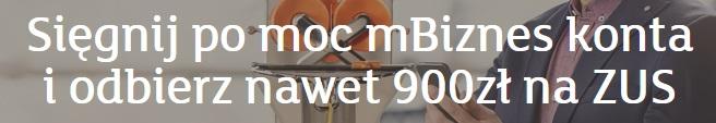 900 zł na ZUS mbank mbiznes