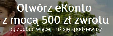 zyskuj z ekontem w mbanku 500 zł bonus
