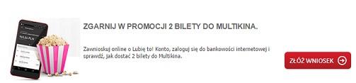 2 darmowe bilety do kina konta dla kinomaniaków Bank BPH