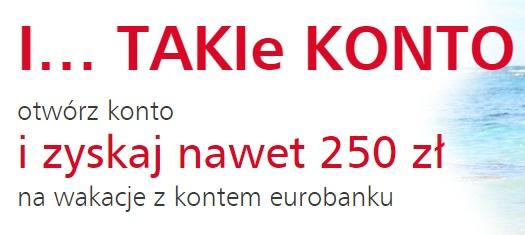250 zł premii eurobank