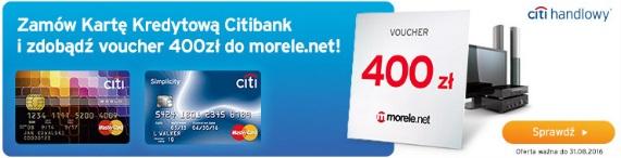 karta kredytowa i voucher 400 zł warunki