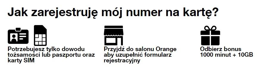 rejestracja numeru w orange