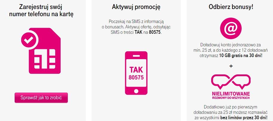 Bonus za rejestrację numeru w T-Mobile