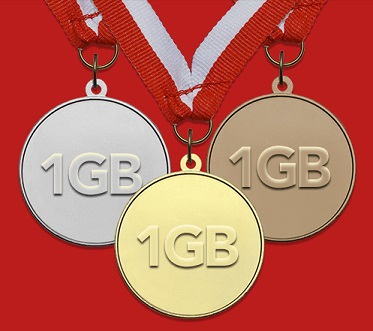 Gigsy za medale 2 gigabajty za medale