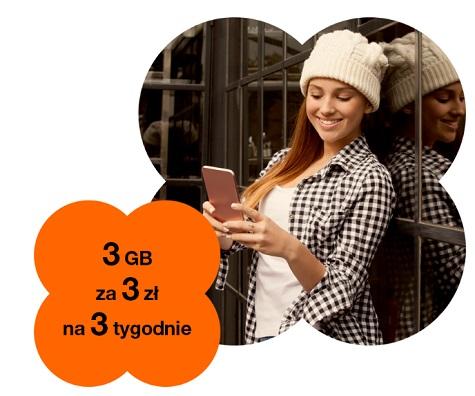 3GB za 3 zł w orange Mikołajkowy Pakiet Internetowy