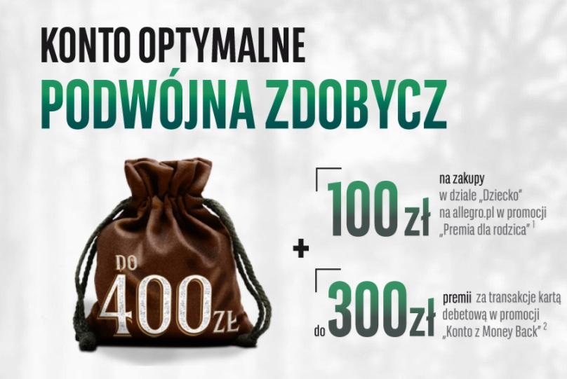 100 zł + 300 zł w BNP BGŻ Paribas
