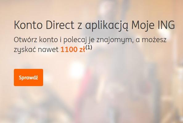 100 zł w ING Banku Ślaskim za Konto