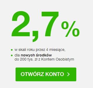 Konto Oszczędnościowe na 2,70%