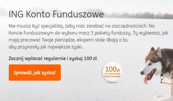 100 zł za regularne inwestowanie