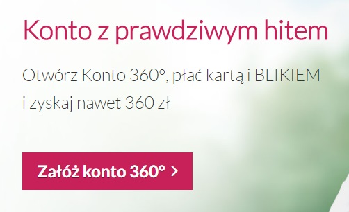 Konto z premią 360 zł