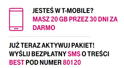 20GB za darmo T-Mobile uwalnia internet