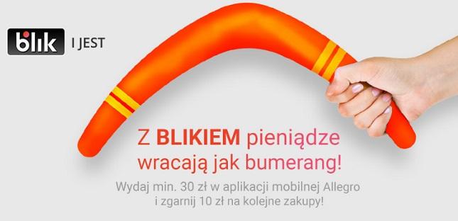 Kupon 10 zł na kolejne zakupy za płatność BLIK na Allegro