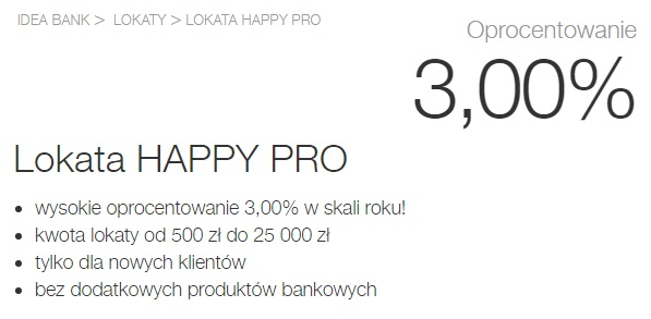 Lokata Happy Pro