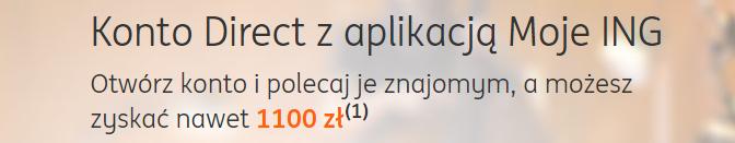 100 zł za konto