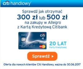300 zł lub 500 zł na Allegro za CC
