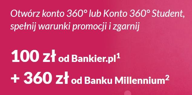 100 zł premii za Konto 360