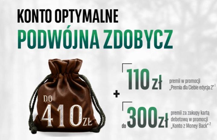 Konto Optymalne z premią 110 zł