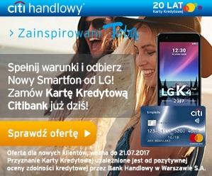 LG K4 za kartę kredytową Citibanku