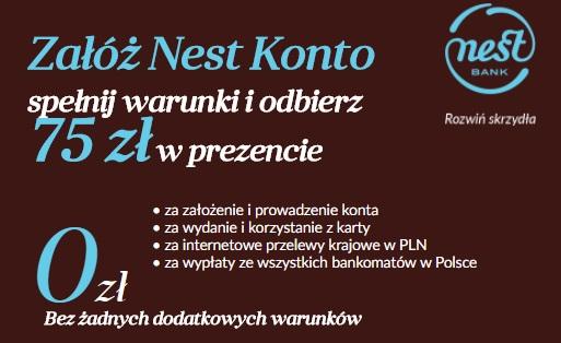 75 zł za konto w Nest Banku