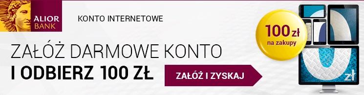 Konto internetowe z bonem 100 zł alior bank premia