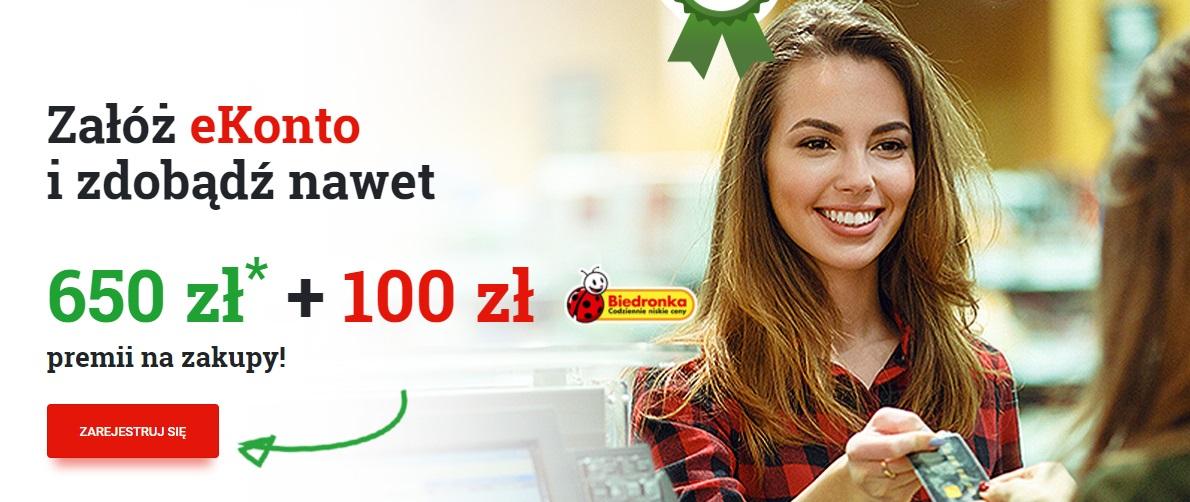 100 zł do Biedronki i do 650 zł za płatności w mBanku