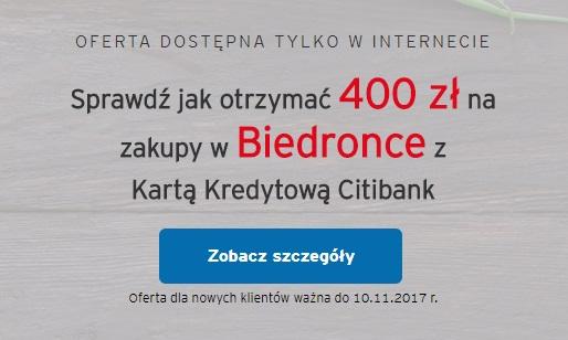 400 zł na zakupy do Biedronki