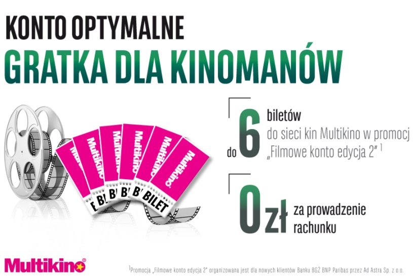 Bilety do Multikina w BGŻ BNP Paribas
