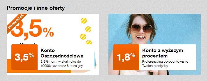 Konto Oszczędnościowe na 3,50% w Orange