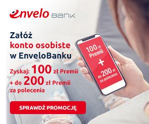 100 zł premii za konto w EnveloBanku