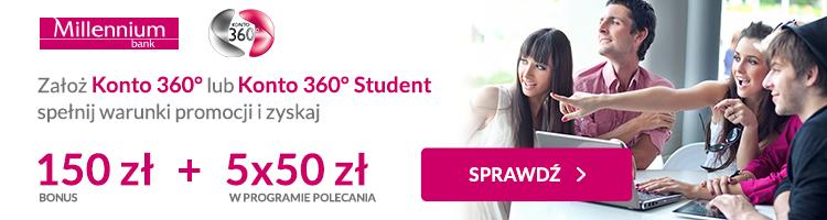 150 zł premii za Konto360