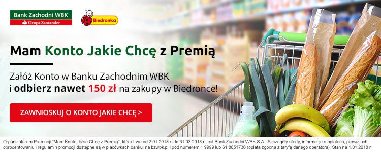 150 zł za Konto Jakie Chcę w BZ WBK